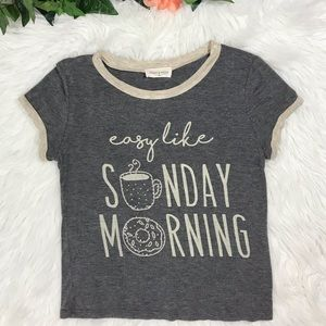 French Pastry Easy like Sunday Morning Sparkle Tee